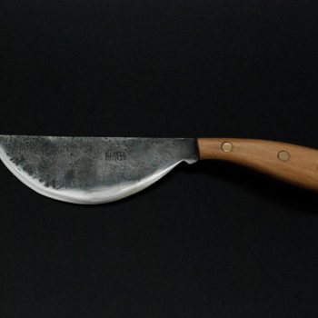 Cheese knife, ideal for hard cheese, beech wooden handle