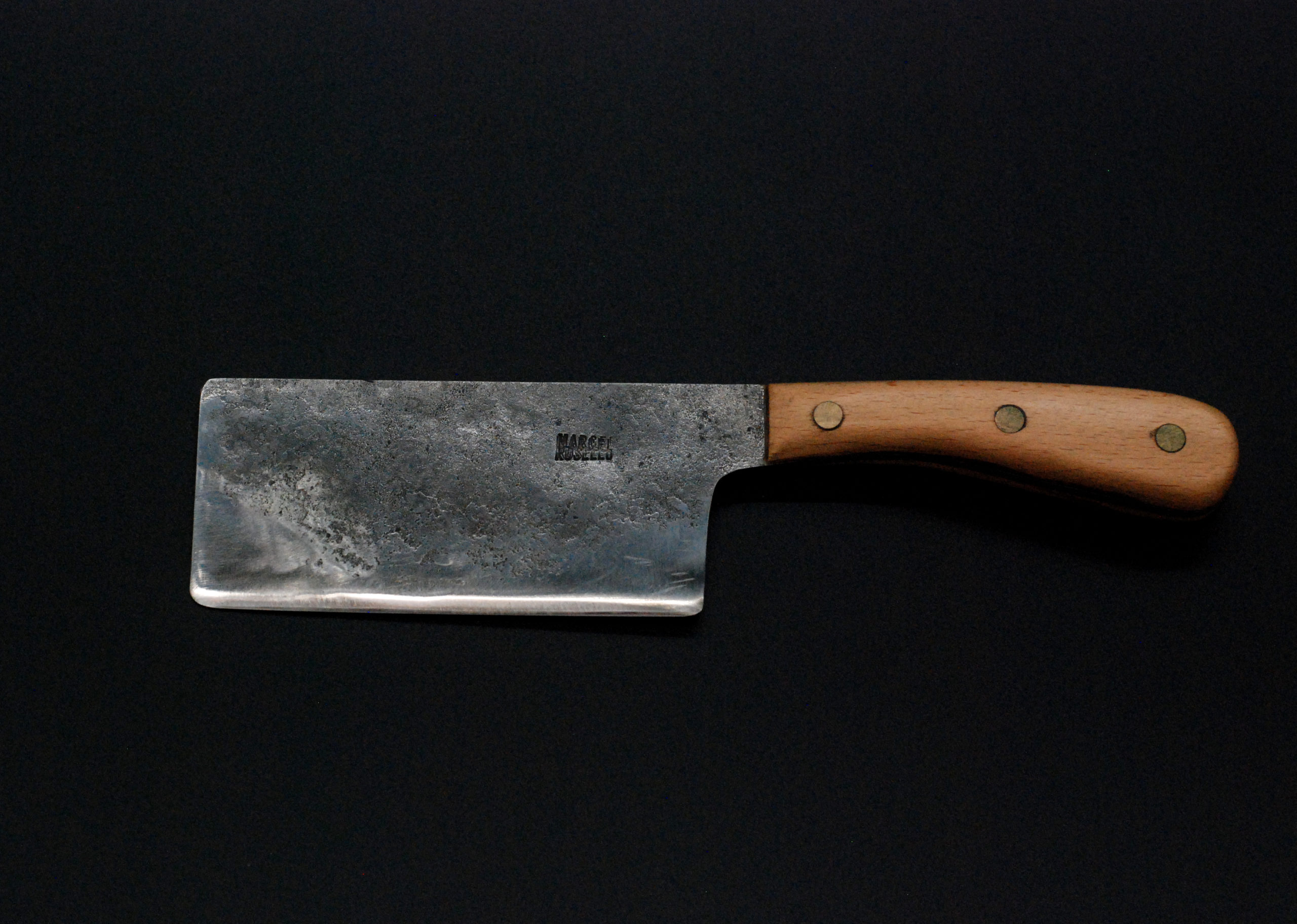 Cheese cleaver, beech wooden handle