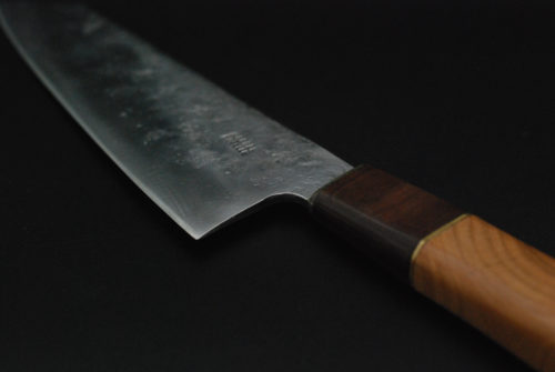 Santoku 180 mm, cherry and walnut wood