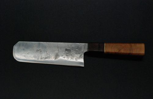 Nakiri 180mm, cherry and walnut wood