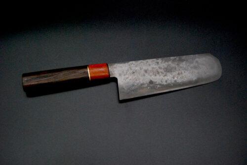 Nakiri 180 mm,   smoked oak and Mahogany